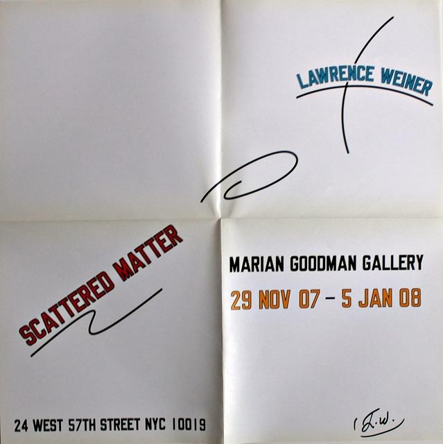 Lawrence Weiner, 'Scattered Matter (Hand Signed)', 2008, Alpha 137 Gallery