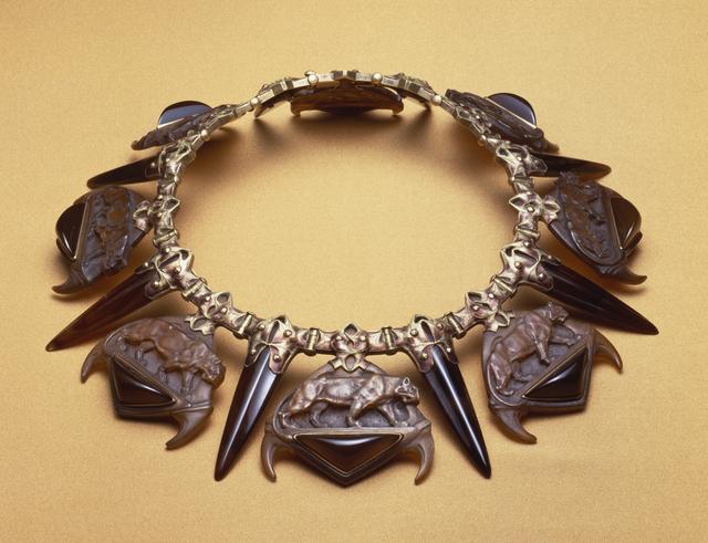 René Lalique, 'Tiger Necklace', ca. 1903, Walters Art Museum