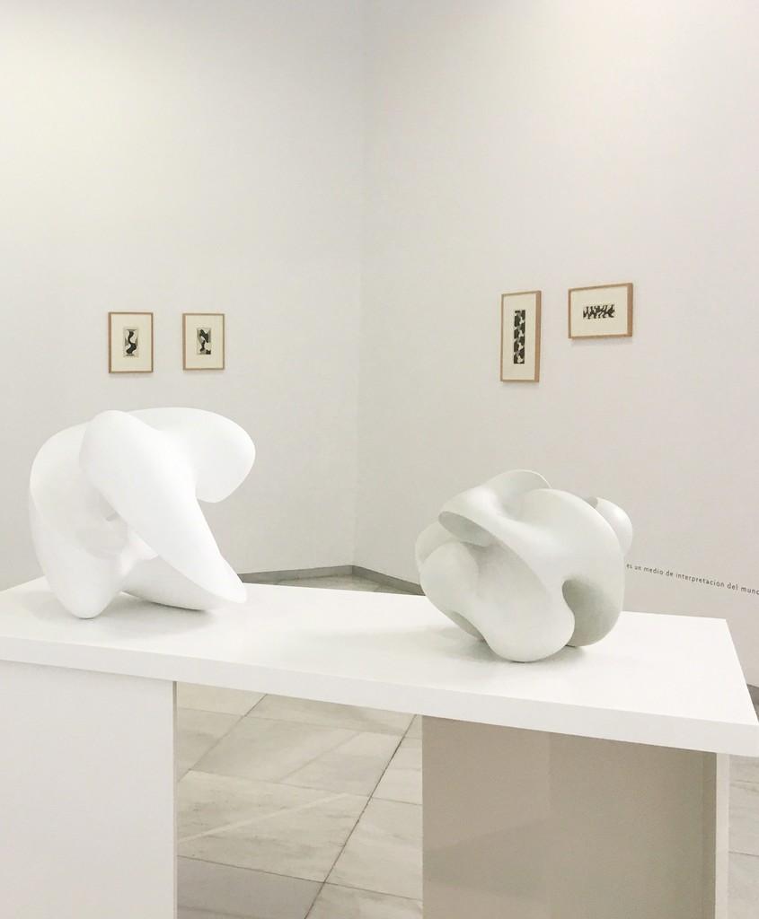 """Equipo 57. Partial view exhibition """"Manifiestos y teorías. 60 años de Equipo 57""""en Galería Rafael Ortiz"""