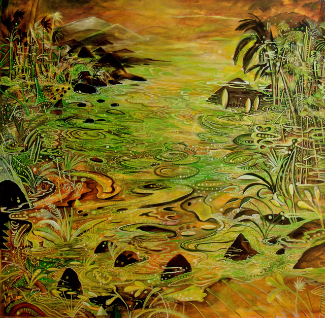 , 'Tropical river con flow IV,' 2016, Lyle O. Reitzel