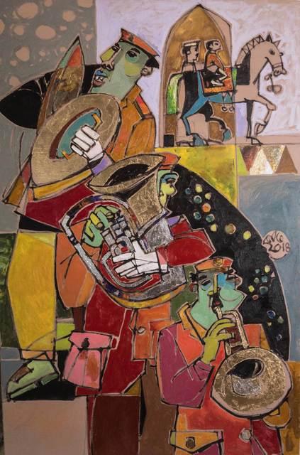 , 'Hasaballah - An Egyptian Traditional music band,' 2018, Easel & Camera Contemporary Art Gallery