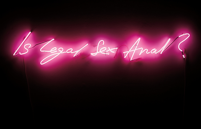 Tracey Emin, 'Is Legal Sex Anal?', 1998, Installation, Pink neon, Phillips