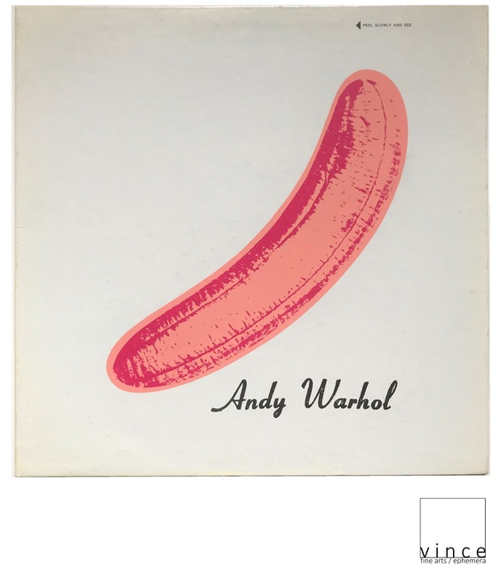 "Andy Warhol, 'NEAR MINT- ""Velvet Underground & Nico"", 1967, ""PEELED"" Torso/Black Banner Sticker, USA Mono Copy, MUSEUM QUALITY, RARE', 1967, Print, Lithograph on paper, VINCE fine arts/ephemera"