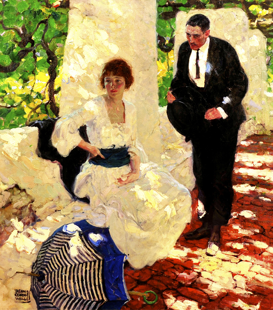 Dean Cornwell, 'Couple Under Loggia', The Illustrated Gallery