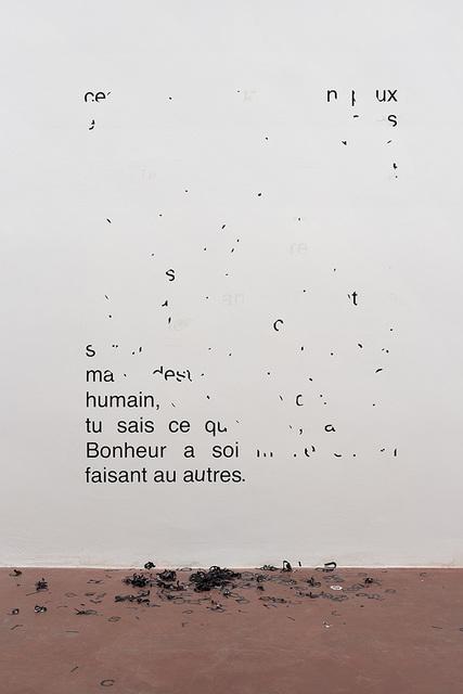 , 'Vendredi 11 août 1989 – Ces paroles pour toi sont peux être frappante,' 2014, Dvir Gallery