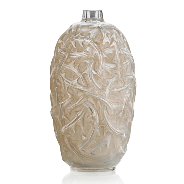 "Lalique, '""Ronces"" Vase, France, M P. 427, No. 946', des. 1921, Rago/Wright"