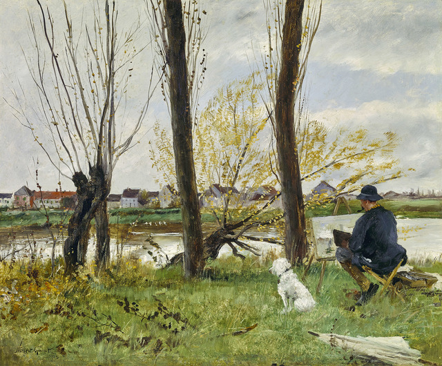 Norbert Goeneutte, 'Artist sketching on the Banks of the Oise', 1893, Gallery 19C