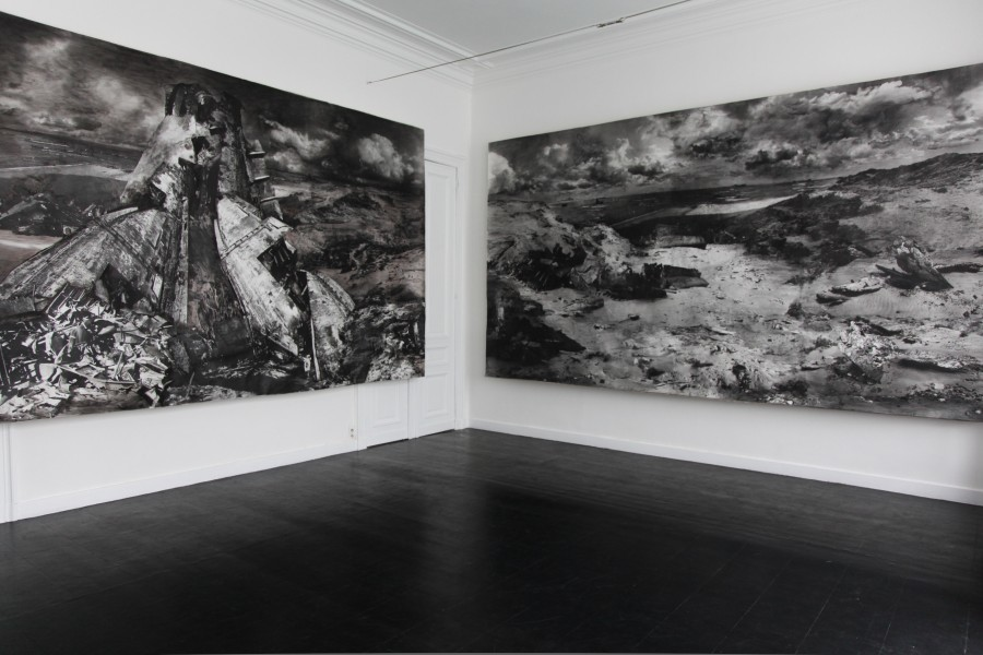Installation view Marie Cloquet exhibition Nouadhibou Annie Gentils Gallery 2013 - Nouadhibou III & VI