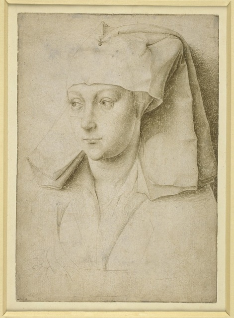 , 'Portrait of an unknown young woman,' c. 1435, British Museum