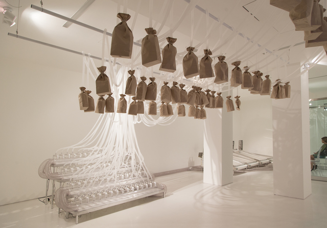 Rafael Lozano-Hemmer, 'Vicious Circular Breathing', 2013, bitforms gallery