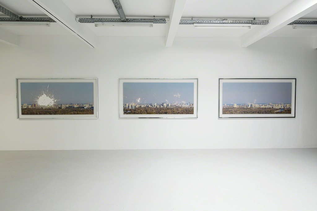 Zhanna Kadyrova installation view Experiments, 2014 inkjet-print, acid Courtesy by the artist and GALLERIA CONTINUA, San Gimignano / Beijing / Les Moulins / Habana, photo: Christian Vorhofer