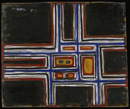 Francisco Matto, 'Composición sobre fondo negro [Composition on Black Background]', 1958, Blanton Museum of Art