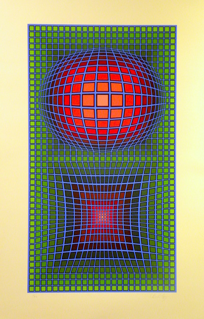 Victor Vasarely, 'Composition In Green, Red And Violet', ca. 1980, Gregg Shienbaum Fine Art