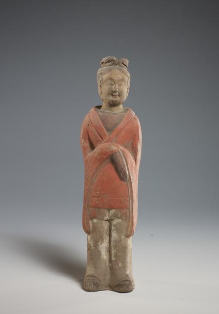 , 'Female Attendant Figurine,' 570, China Institute Gallery