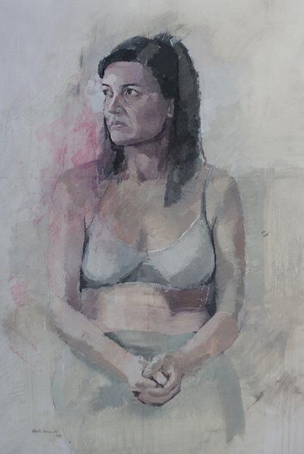 ", '""Retrato de Ana sentada"",' 2017, Sala Parés"