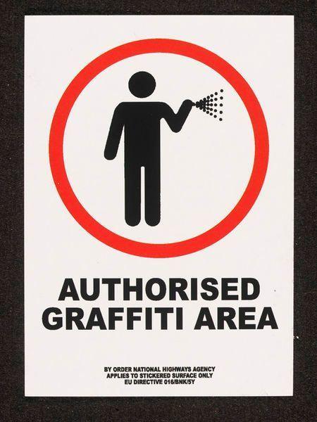 Banksy, 'BANKSY AUTHORISED GRAFFITI AREA STICKER, FROM LAZINC GALLERY LONDON', 2004, Arts Limited