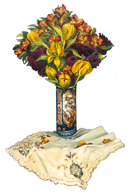 , 'Vase of Mixed Flowers and Yellow Tulips ,' 2013, Chris Beetles Gallery
