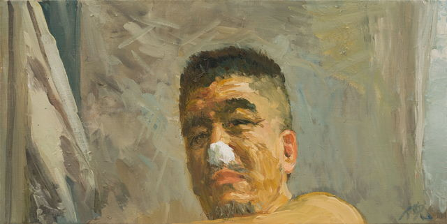 Ni Jun, 'Pretending a Wounded Nose 假装鼻子受伤', 2016, PIFO Gallery
