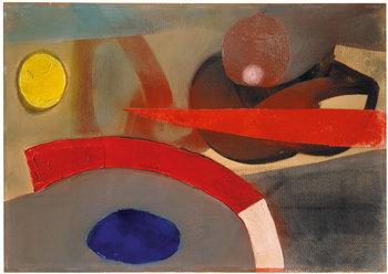 Fritz Winter, 'Komposition mit rotem Bogen', 1950, Ludorff