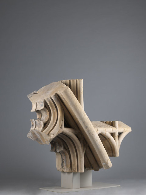 , 'A monumental arch intersection from the south window of Canterbury Cathedral,' 1428, Luhring Augustine