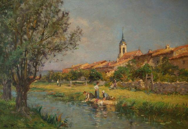 , 'Les Lavandiers,' ca. 1890, Anderson Galleries