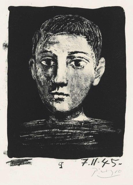 Pablo Picasso, 'Tête de jeune garҫon', 1945, Christie's