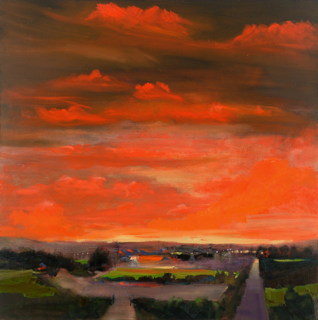 Simon Andrew, 'Outside the City at Dusk', 2020, Painting, Oil on canvas, Duran Mashaal