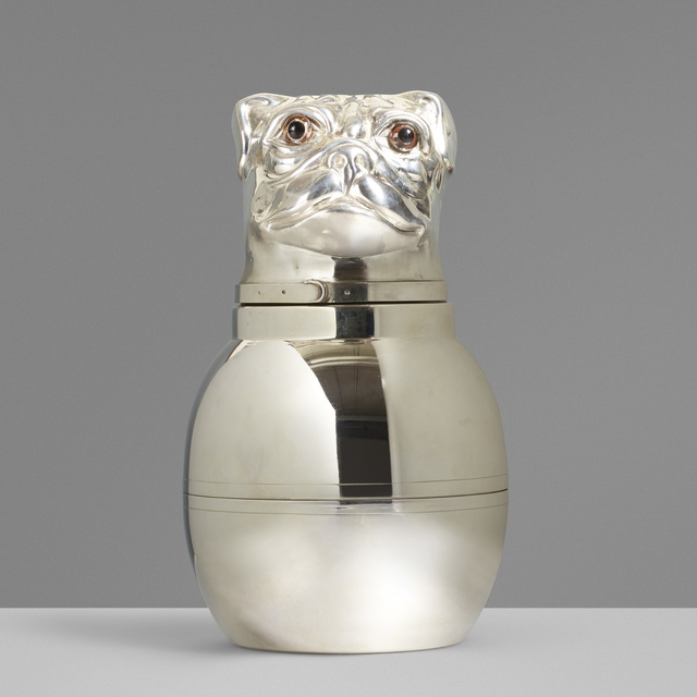 'Bulldog ice bucket', c. 1965, Wright