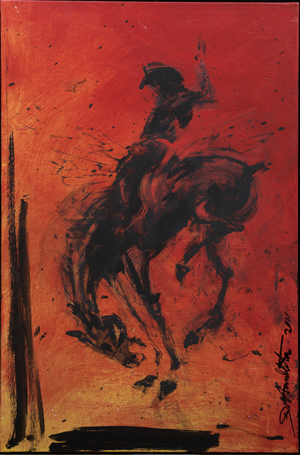 , 'Horse & Rider - Red ,' 2018, Maddox Gallery