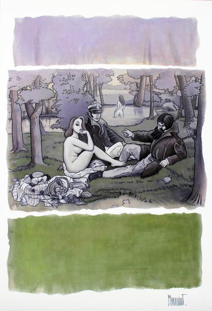 , 'Violet boisé et vert tendre,' 2018, Galerie Deza