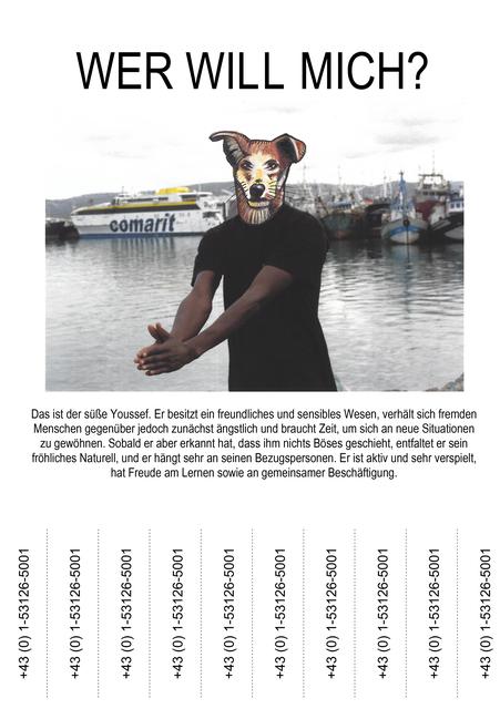 , 'Wer will mich (Youssef),' 2019, Galerie Reinthaler