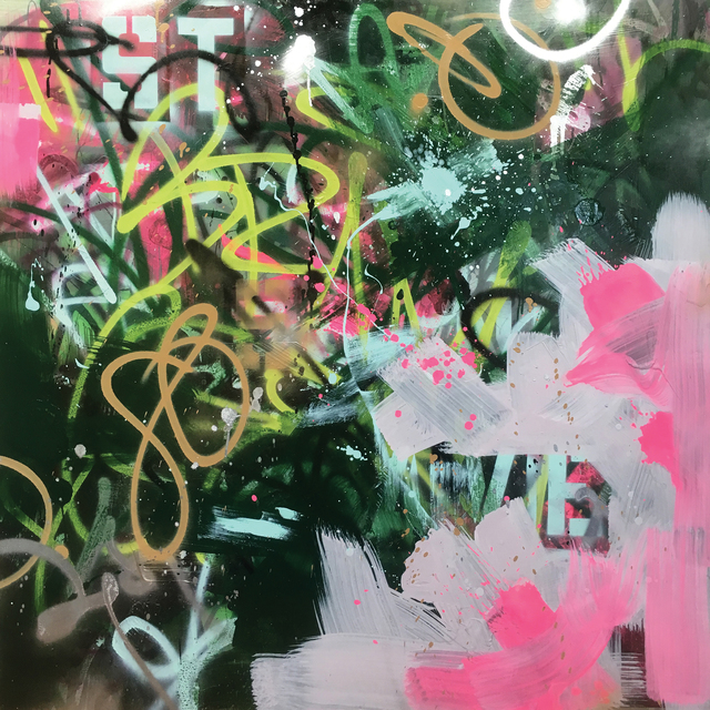 Samuel E Vázquez, 'Automatic Notes Thirst Notes Phrasing Exemption', 2016, Painting, Acrylic, latex, spray enamel, ink and graphite on panel, Long-Sharp Gallery