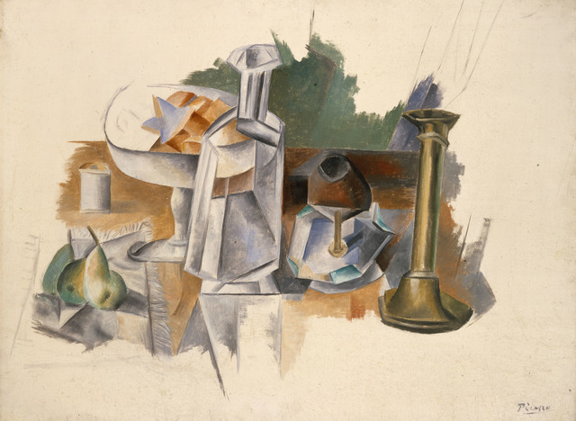 Pablo Picasso, 'Carafe and Candlestick', 1909, Painting, Oil on canvas, The Metropolitan Museum of Art