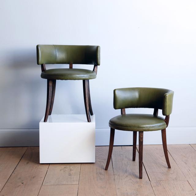 , 'PAIR OF LOW CHAIRS ATTRIBUTED,' ca. 1930, Lawton Mull