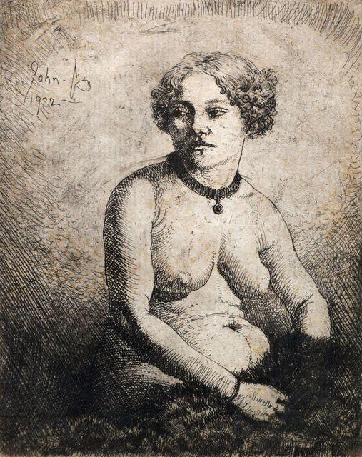 Augustus John, 'La Gravida (Campbell Dodgson 100)', 1902, Roseberys