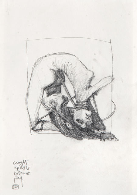 Hera, 'Caught Up In The Roles We Play', 2012, Drawing, Collage or other Work on Paper, Unique pencil drawing on paper, Tate Ward Auctions