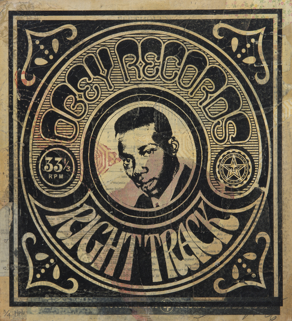 Shepard Fairey (OBEY), 'Obey Records, Right Track', 2006, Julien's Auctions