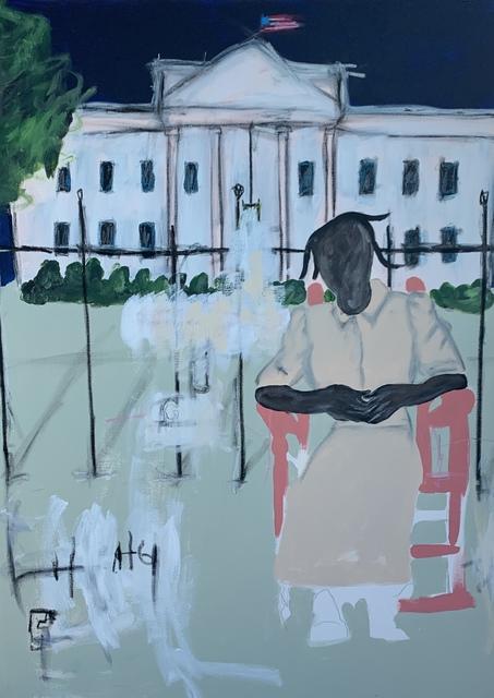 Jammie Holmes, 'Grandma Visits White House', 2019, Jonathan Ferrara Gallery