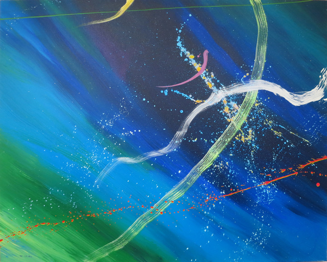 Don Ahn, 'Ocean Yellow Dots', 1999, Walter Wickiser Gallery