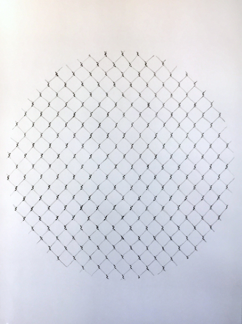 , 'Chain Link Fence Mandala,' 2016, Pentimenti Gallery