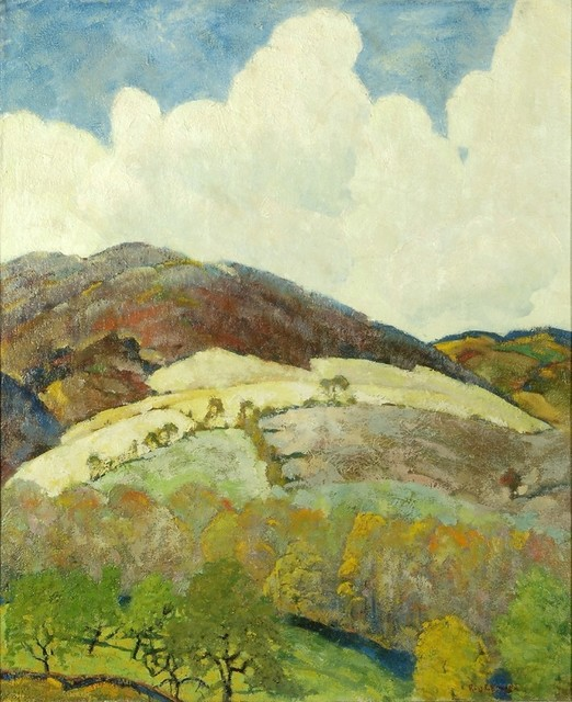 Ross Braught, 'Far Hills', ca. 1928, Painting, Oil on canvas, Private Collection, NY