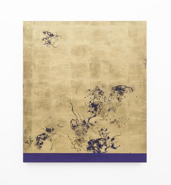 , 'Hair orchid sweat print, violet scape,' 2018, SMAC