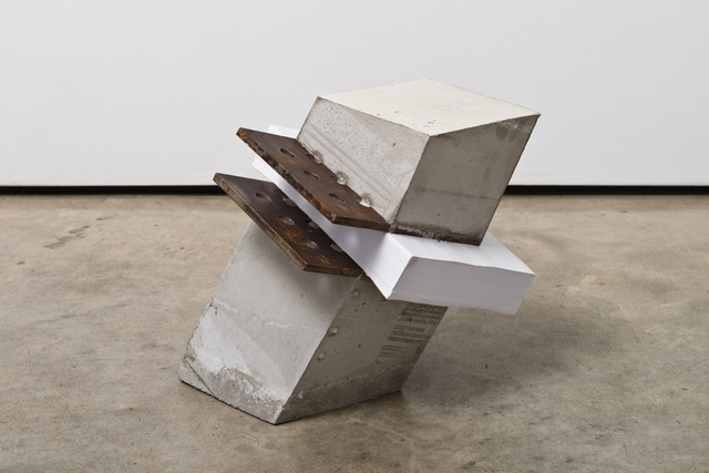 Lucas Simões, 'White Lies 10', 2017, Sculpture, Concrete, paper, and steel, Lora Reynolds Gallery