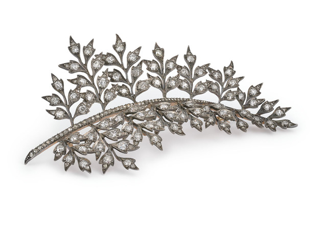 , 'Diamond set - stem brooch,' ca. 1880, Wartski