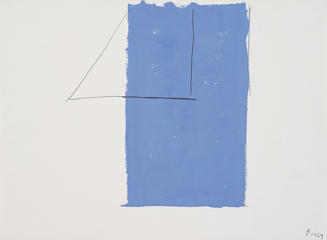 , '[  Open Study (In Blue with Pencil Lines) ],' 1969, Dedalus Foundation