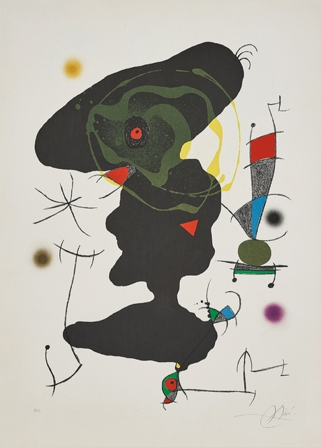 Joan Miró, 'Oda a Joan Miro' PLATE V', 1973, Print, Lithograph in colors, on Guarro paper, with full margins., Bravo Art Group