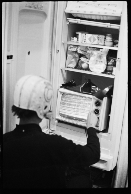 , 'Basquiat performing in the apartment VI,' ca. 1979-1980, CaribBeing
