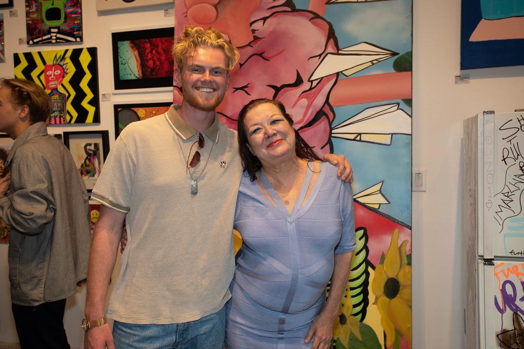 Artist Jack George with Patti Astor.