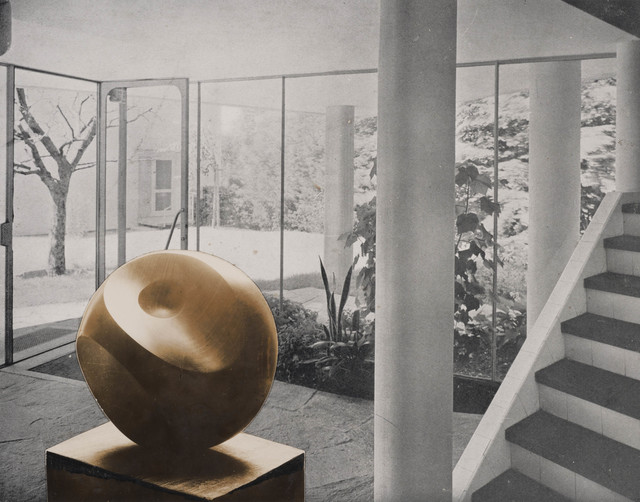 Barbara Hepworth, 'Photo-collage with Helicoids in Sphere in the entrance hall of flats designed by Alfred and Emil Roth and Marcel Breuer at Doldertal, Zurich', 1939, Tate Britain