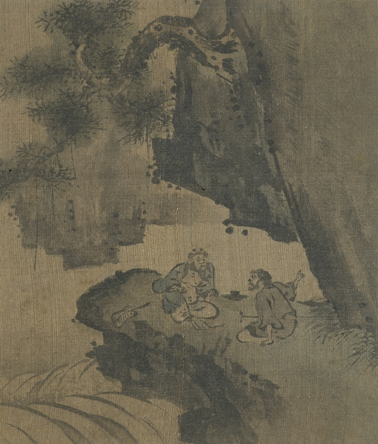 'Figures in a Landscape', Joseon Dynasty (1392-1910); 17th century, Los Angeles County Museum of Art
